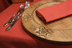 Evening tableset Royalty Free Stock Photography