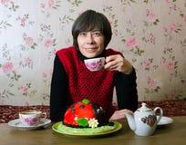 The evening tea Stock Photography