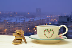 Evening Tea and Cookies Royalty Free Stock Image