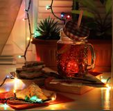 Evening tea with homemade cookies royalty free stock photography