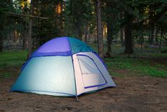 Evening tent Stock Image