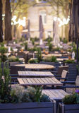 Evening terrace royalty free stock image