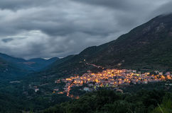 Evening at Tiana village, Sardinia Stock Photos