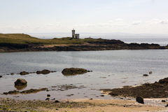 Evening tide at Elie Lighthouse Stock Image