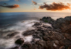 Evening tide of Hawaii Stock Photography