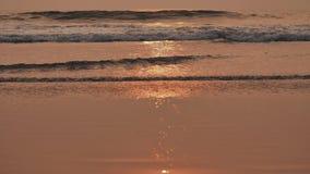 Evening tide waves on arambol beach. Goa India.