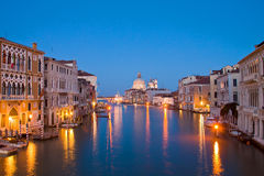Evening time at grand canal,venice, italy Stock Photography