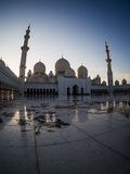 Evening time grand mosque Royalty Free Stock Photo