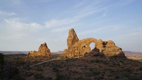 Evening time lapse in Arches National Park. Beautiful Evening time lapse in Arches National Park stock footage