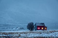 Evening time, Lofoten islands, Norway Stock Photo