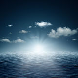 Evening time on the ocean Stock Photography