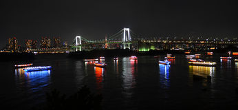 Evening at Tokyo skyline at Japan. Evening at Tokyo harbour and its skyline at Japan Royalty Free Stock Photography