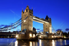 Evening Tower Bridge, London Royalty Free Stock Photos