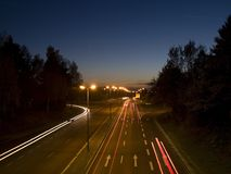 Evening traffic Royalty Free Stock Images