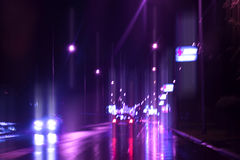 Evening traffic. Stock Images