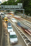 Evening traffic blur Royalty Free Stock Images