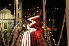 Evening traffic on the bridge Stock Photography