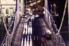 Evening traffic on the bridge Royalty Free Stock Photo