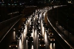 Evening traffic Stock Images