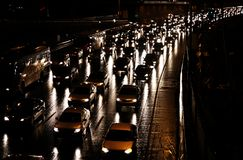 Evening traffic Stock Photos
