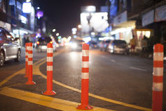 Evening traffic, chiangmai Thailand. Stock Image