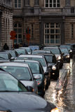 Evening traffic in the city Royalty Free Stock Photo