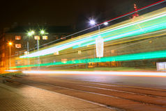 Evening traffic. The city lights. Stock Photography