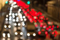 Evening traffic. The city lights. Motion blur. Stock Photo