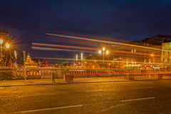 Evening traffic in Dublin Royalty Free Stock Photo