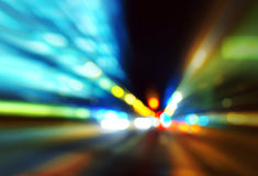 Evening traffic. Motion blur. Stock Photography