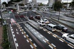 Traffic in Nagoya, Japan royalty free stock photo