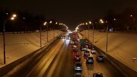 Evening traffic stock video