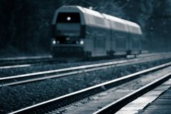 Evening train Stock Photography