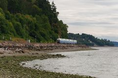 Evening Train near Picnic Point Royalty Free Stock Photography