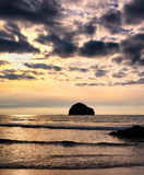 Evening at Trebarwith Strand, North Cornwall, England Stock Photography