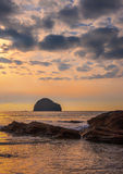 Evening at Trebarwith Strand, North Cornwall, England Royalty Free Stock Images