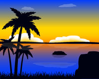Evening in tropic Stock Photos