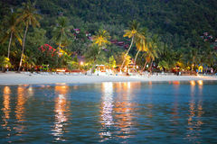 Evening on a tropical beach Royalty Free Stock Photography
