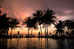 Evening in tropical hotel Royalty Free Stock Photos