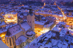 Evening twilight in Lvov Royalty Free Stock Images