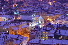 Evening twilight in Lvov Stock Photo