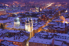 Evening twilight in Lvov Royalty Free Stock Photography