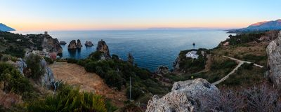 Faraglioni at Scopello, Sicily, Italy Stock Image