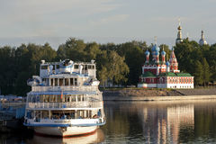 An evening is in Uglich. Stock Photos