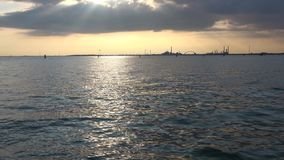 Evening in the Venetian lagoon. Italy. Evening in the Venetian lagoon, Italy stock footage