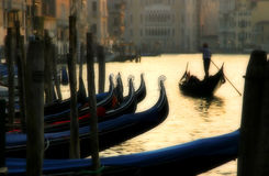 Evening Venice. Picture of Grand Canal at evening Stock Photo