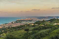 Evening view Adriatic coastline Stock Image