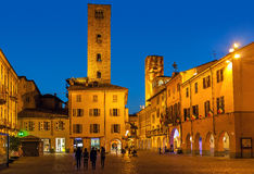 Evening view of Alba, Italy Royalty Free Stock Photography