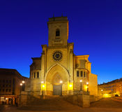 Evening view of  Albacete Cathedral Royalty Free Stock Photo