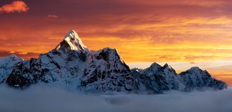 Evening view of Ama Dablam Royalty Free Stock Photos